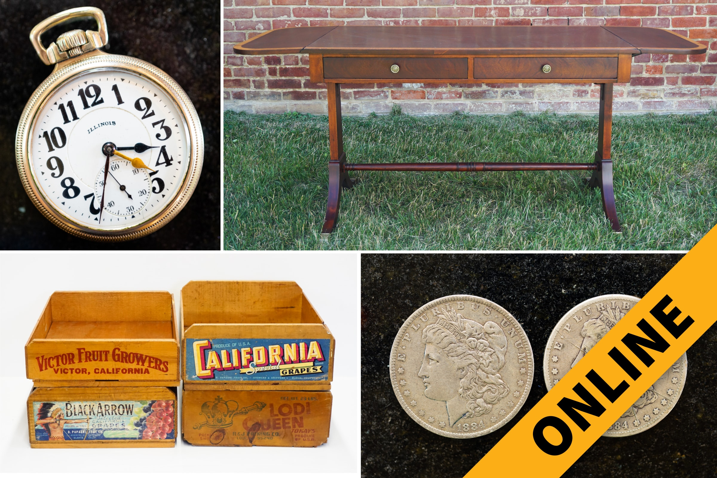 Vintage Antique Online Auction Harritt Group Inc