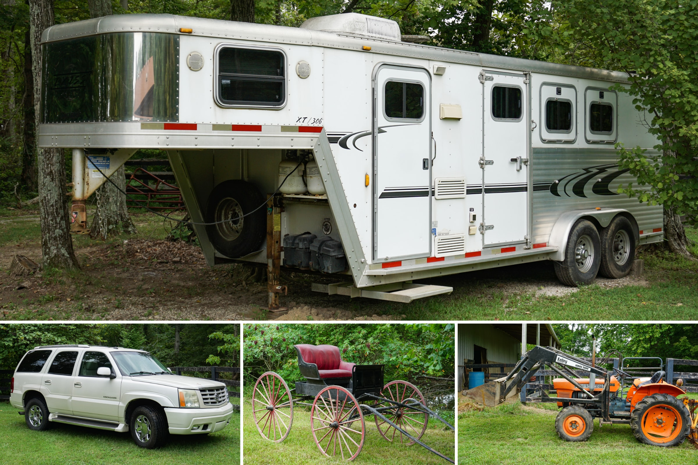 Vehicle, Horse Trailer, Equipment & Household Auction