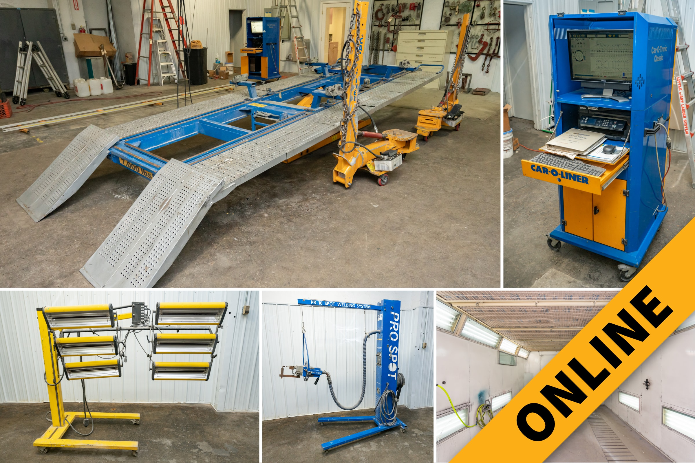 Body Shop Equipment Online Auction