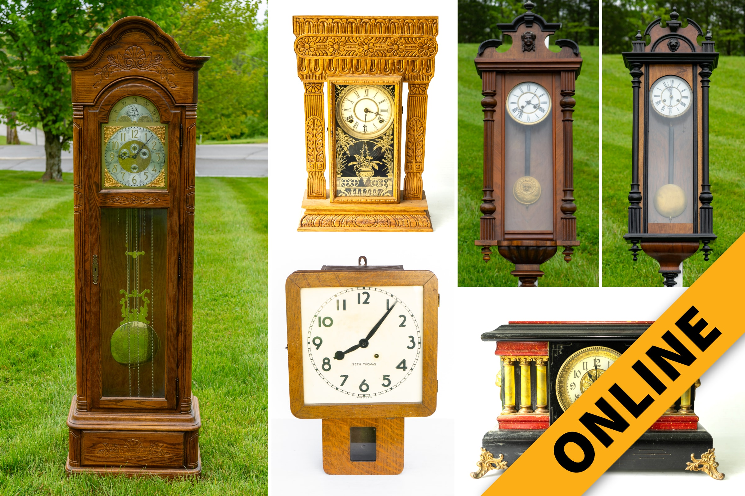 Crump Clock Online Auction