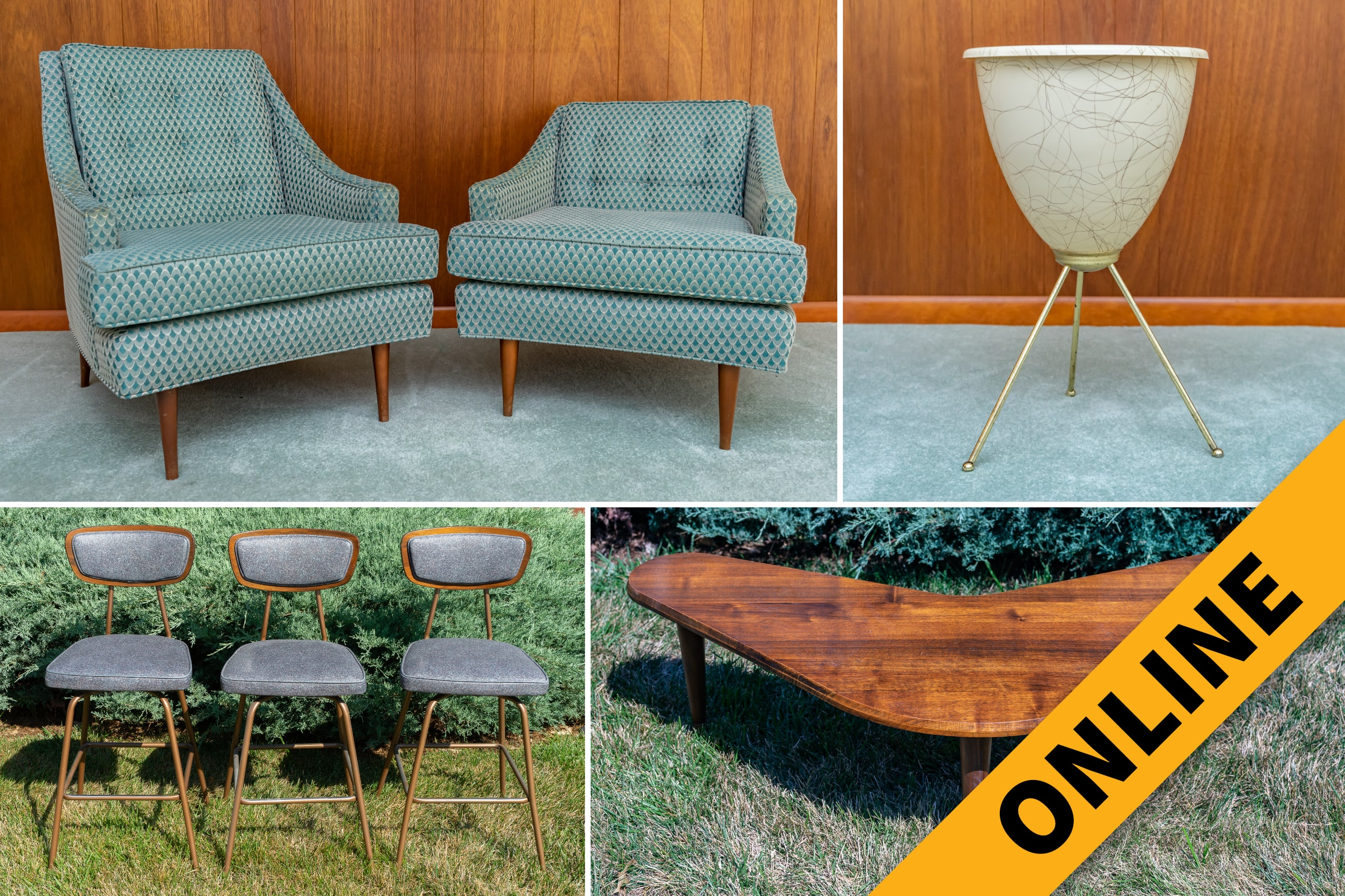 Mid-Century Period Furniture & Decor Online Auction