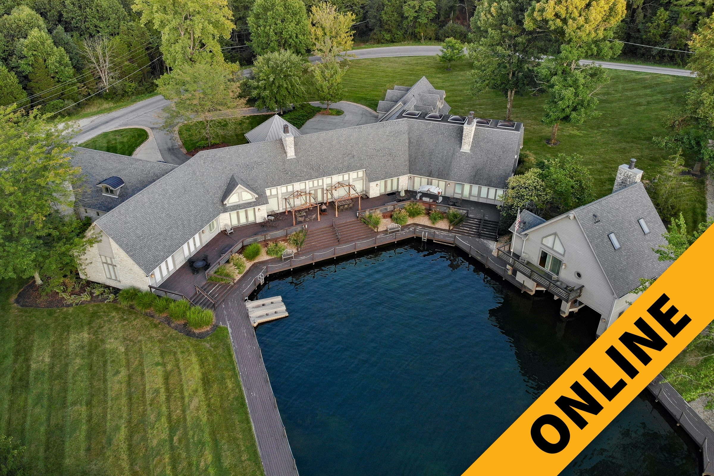 Grandview Lake Home & Boathouse Online Auction