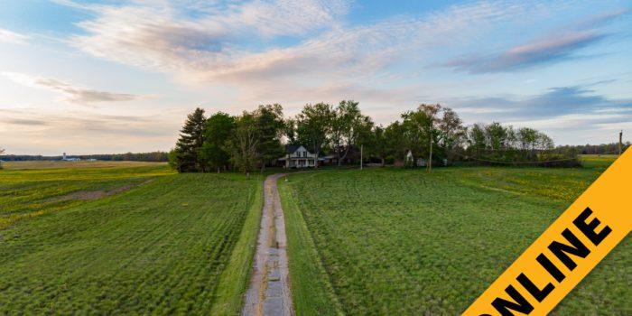 No Reserve Farmhouse On 7 Acres Online Auction