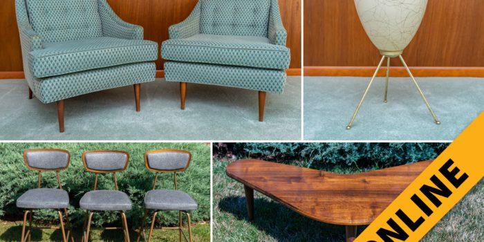 Mid-Century Period Furniture & Decor Online Auction