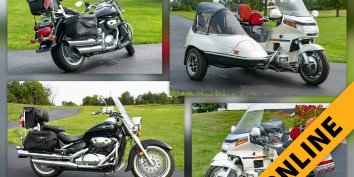 Gold Wing With Sidecar & Suzuki Cruiser Online Auction