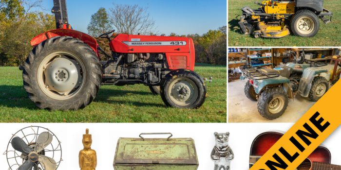 Tractor, Equipment & Contents Online Auction