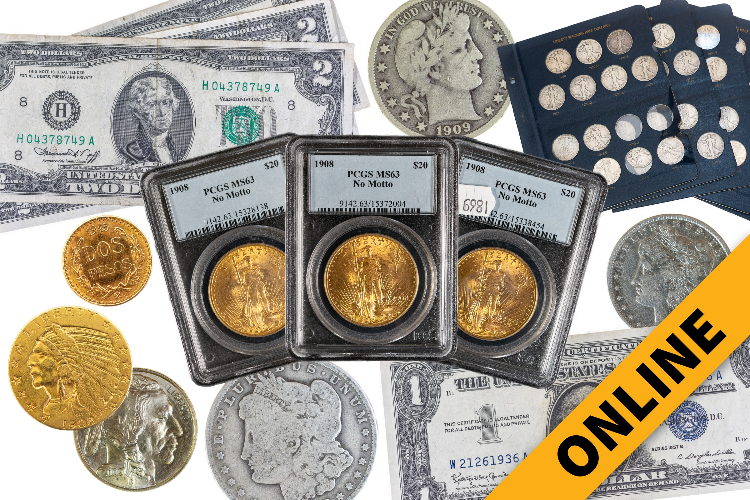 Coins, Currency & Jewelry Online Auction